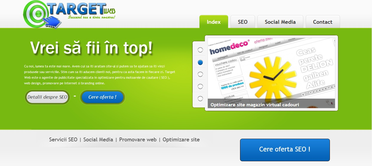 site-ul nou www.target-web.ro